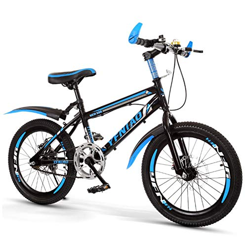 Bicicleta Para Niños, Bicicleta De Montaña Con Marco De Acero De Alto Carbono De 18 Pulgadas, B