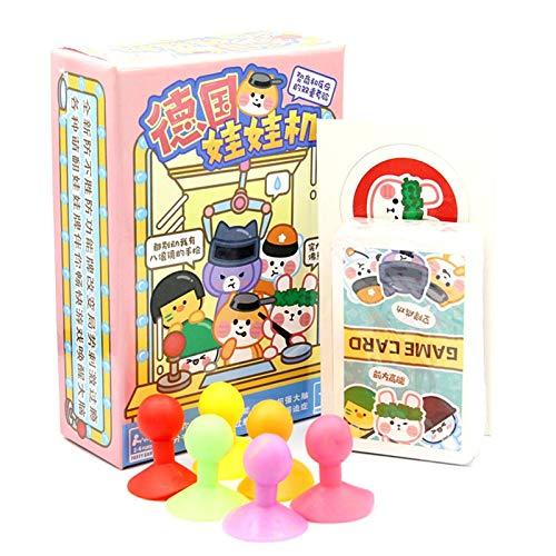 xqkj Puppenmaschine Tischspielkarte, IQ Reaktionsspiel Multiplayer Spiel Pokerkarte