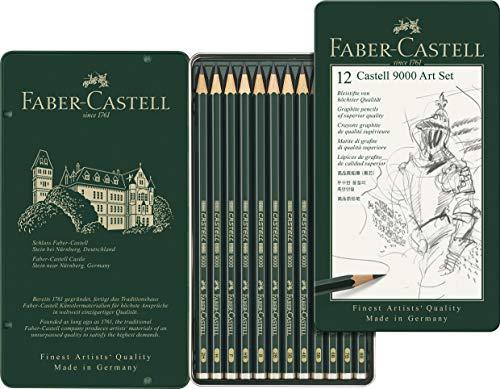 Faber-Castell 119065 - Bleistift Castell 9000, 12er Art Set