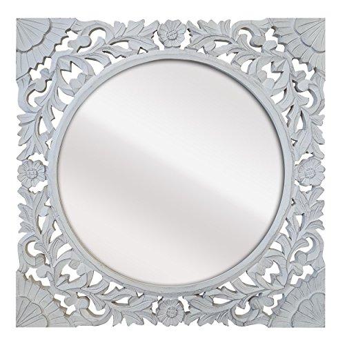 Espejos Decorativos de Pared Blanco Barroco Marca La Fabrica del Cuadro