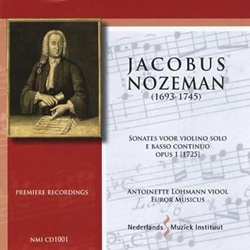 J. Nozeman: Sonatas for Violin Solo & Basso Continuo, Op. 1 (1725)