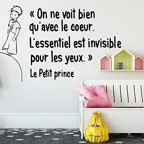 Große Größe Nette Französisch Le Petit Prince Wandkunst Aufkleber Wandkunst Aufkleber Wandbilder Für Wohnkultur Kinderzimmer Dekoration Tapete Lila 58 * 91 cm