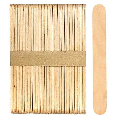 100 palos de paletas de madera Jumbo de 6 pulgadas (madera natural)