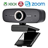 Webcam Streaming YouTube OBS Twitch Compatible Skype Webcam Full HD 1080P PC Camera Built-in Dual Microphones Computer Camera Compatible for Mac Windows 10/8/7
