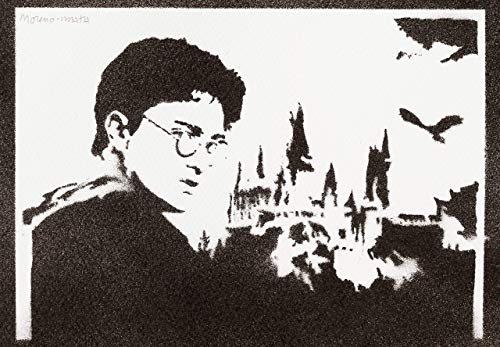 Harry Potter Poster Handmade Graffiti Street Art - Artwork