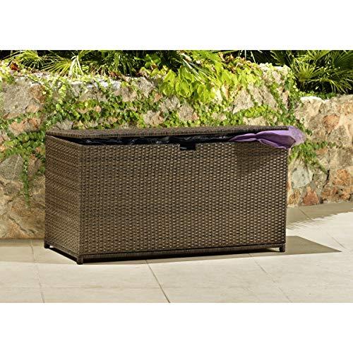 HAVESON Kissenbox Gartenmöbel Aufbewahrung Polyrattan Protis, braun
