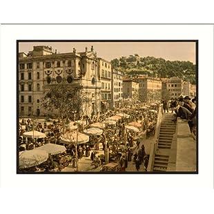 The market Nice Riviera, c. 1890s, (L) Library Image:Elektrikmalzemeleri