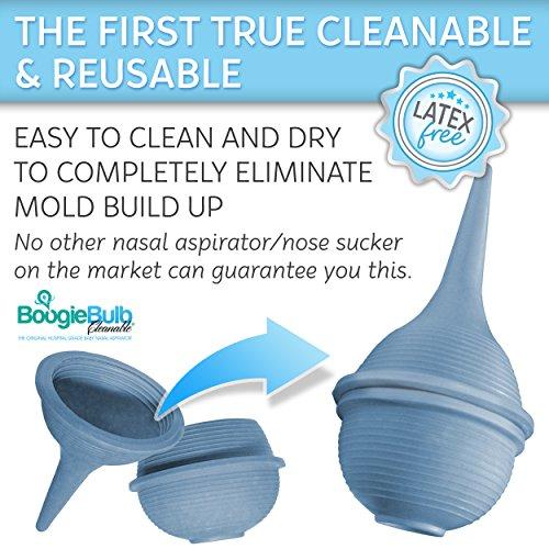BoogieBulb Baby Nasal Aspirator and Booger Sucker for Newborns Toddlers & Adult - BPA Free -...