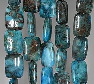 20X15MM Blue Lagoon Pyrite INCLUSIONS Quartz Gemstone Rectangle Loose Beads 15