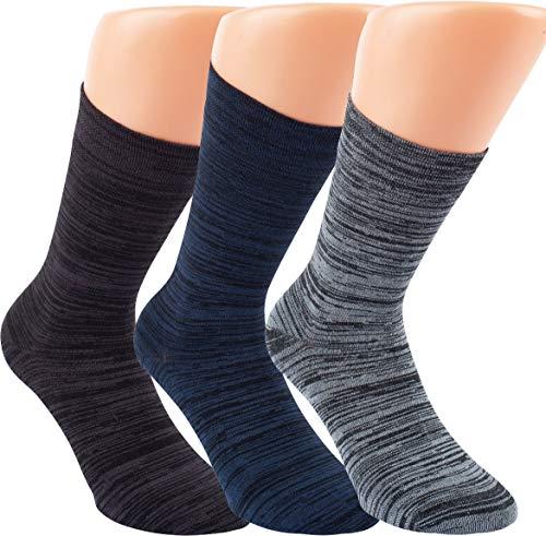 by Riese 3-15 Paar Bambus Socken MELANGE Bambussocken Softrand ohne Gummi Damen Herren (3, 39/42)