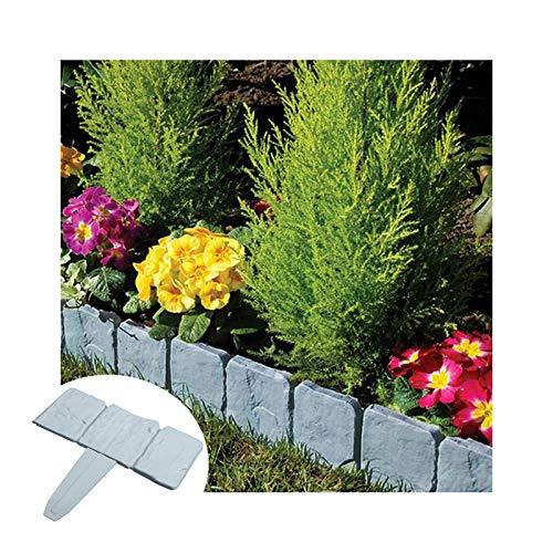 GZHENH Borde De La Cerca del Jardín, Valla De Jardín De Plástico Diseño Entrelazado Fácil De Doblar Usado para Decoración Acera Borde De Césped Impermeable (Color : Gray-20pcs)