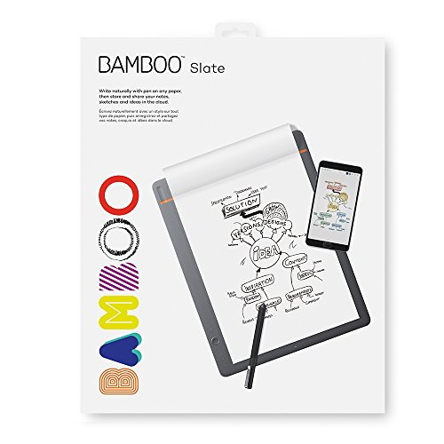 Image of the Wacom Bamboo Slate Smartpad Digital Notebook, Large (A4/ Letter Size), CDS810S