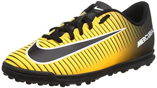Nike Mercurialx Vortex III TF, Scarpe da Calcio Unisex – Bambini, Arancione (Laser Orange/Black/White/Volt), 35.5 EU