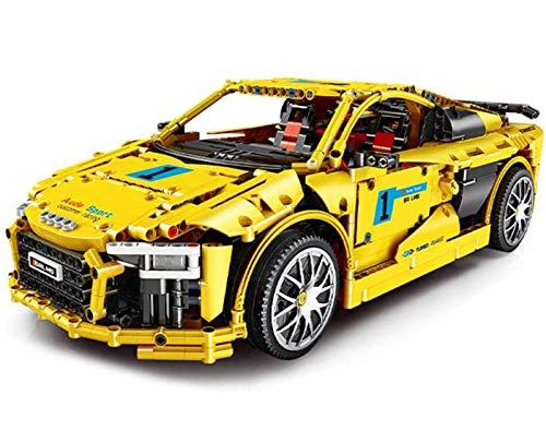 Modelo de coche deportivo con estructura de bloques de construcción de juguete, modelo de carreras de tecnología 1896 piezas juguete de construcción de coche deportivo estático