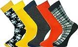 Mysocks® 5 Paar Herren Socken Entwurf Extra feine gekämmte Baumwolle Größe 40-45
