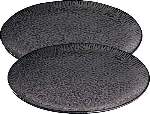 LEONARDO HOME 021974 2-er Set Keramikteller 32 cm anthrazit