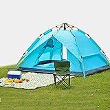 Tienda de campaña al aire libre 2 al aire libre 3-4 Camping al aire libre a prueba de lluvia Camping familiar Tienda de campaña completamente automática Tienda al aire libre 190T Tienda de Dalter 150D