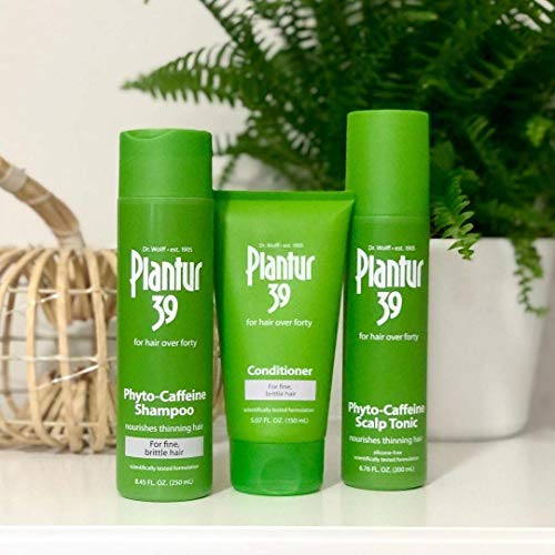 Plantur 39 Phyto Caffeine Women's Made For You 3 Step System Shampoo, Conditioner, Tonic for Fine, Thinning Natural Hair Growth