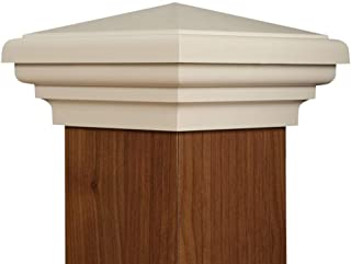 4x4 Post Cap | White New England Pyramid Style Square Top for Outdoor Fences, Mailboxes and Decks, by Atlanta Post Caps