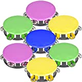 ArtCreativity Neon Tambourines for Kids, Set of 12, Percussion Musical Instruments for Boys and Girls, Durable Plastic and Metal Noisemakers, Birthday Party Favors and Goodie Bag Fillers, 4 Colors