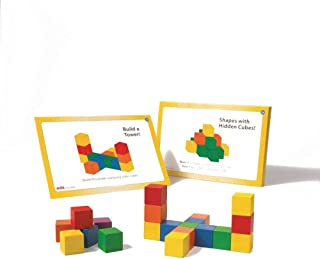 Colored Wooden Counting Cubes (Set of 136)