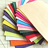 21 Sheets Summer Colors Collection Merino Wool Blend Felt Sheets Sewing DIY Craft 6X12 inch