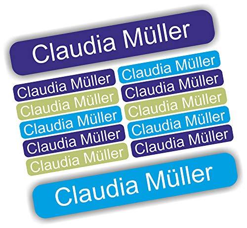 INDIGOS UG® 54 Namensaufkleber Etiketten Mini - 40x6mm - für Kinder, Schule und Kindergarten - Stifte, Federmappe, Lineale - individueller Aufdruck - Markieren von Gegenständen - personalisiert