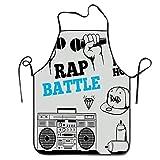 Not Applicable Hip Hop Elements Freestyle Rap Duel con micrófonos Delantal...