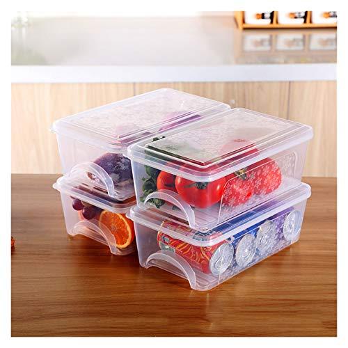 WCN Contenedores de Almacenamiento de Alimentos con Tapas apilables Cocina Congelador contenedores para Carne de Pescado Verduras Frutas 4 Paquete (Quantity : 6)