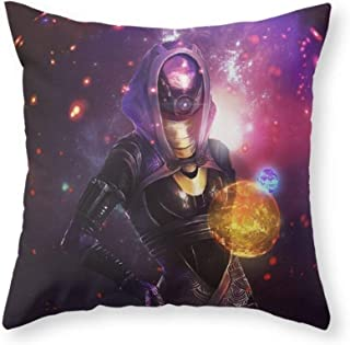 ChongXiFuShi Tali'Zorah Vas Normandy (Mass Effect) Art Throw Pillow Indoor Cover (18