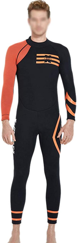 ZXLIFE@@ Neoprene Surfing Suit, 3mm Swimsuit, Men's Diving Suit, Premium Anti-UV Wetsuit with Back Zipper, Predect Skin and Low Resistance,orange,XXL