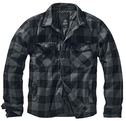 Brandit Lumberjacket, Black-Grey, Größe M