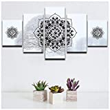 wkoqel Impression sur Toile 5 Parties peintures pour Salon Neige Fond Islamique Musulman Arabe Affiche Murale Imprimer...