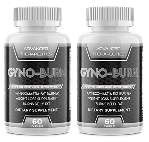 Two Pack Gyno Burn Pills Male Chest Fat Burner Reduces Breast Fat and Eliminates Embarrassing Man Breast Fast. Male Breast Fat Burners Target Stubborn Man Chest Helping You Lose The Male Breast
