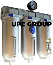 HEAVY DUTY INDUSTRIAL 3 STAGE COMPRESSED AIR CLEANER MOISTURE TRAP, COALESCING FILTER, DESICCANT DRYER (3/4