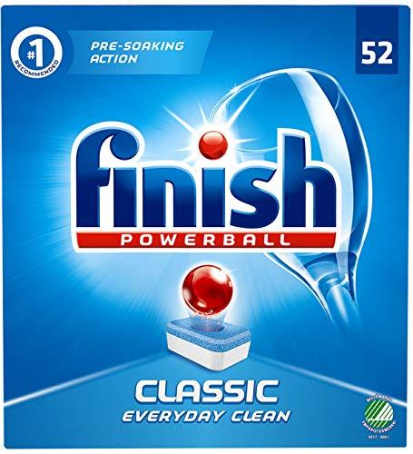 Finish PowerBall Classic 52 - Pastillas de detergente para lavavajillas