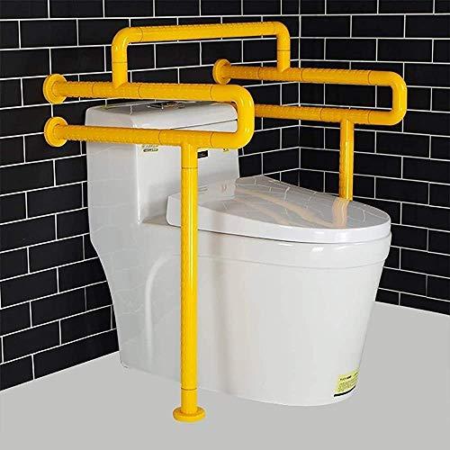 Edelstahl Toilette Sicherheitshandlauf rutschfester Griffstange Sicherheitskäfig Balance Handlauf Sicherheitsgriff Handlauf,Yellow