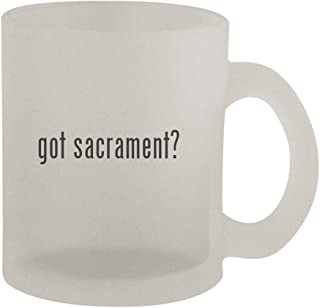 got sacrament? - 10oz Frosted Coffee Mug Cup, Frosted