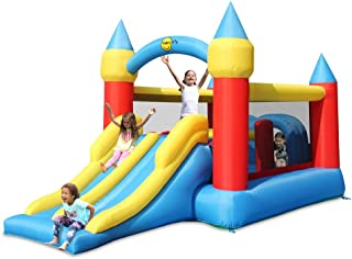 Happy Hop Inflatable Bouncy Castle With Double Slide