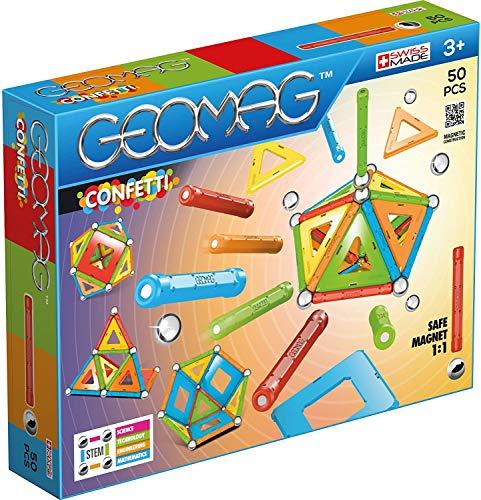 Geomag Confetti Construcciones magnéticas y juegos educativos, 50 piezas (352), Multicolor