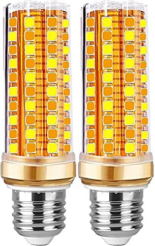 Ampoule LED E27 Dimmable 20W Blanc Chaud-Froid-Naturelle 3 Couleur Équivalent Ampoule Halogène 200W, 6000K 2500lm 360 Angle E27 Led Dimmable Vis E27 Pas de Scintillement éclairage Lot de 2