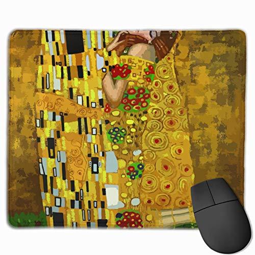 Gustav Klimt Küsse Anti-Rutsch Personalisierte Designs Gaming Mauspad Schwarzes Tuch Rechteck Mousepad Kunst Naturkautschuk Mauspad
