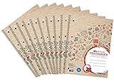 Landré Collegeblock Recycling A4, kariert, 80 Blatt, Lineatur 28, rot, 10 Stück, 400146724