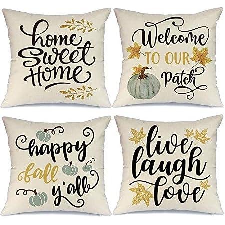 Home Sweet Home Yellow Cushion Cover