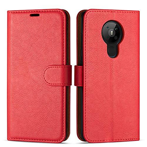 Hülle Collection Hochwertige Leder hülle für Nokia 5.3 Hülle (6,55