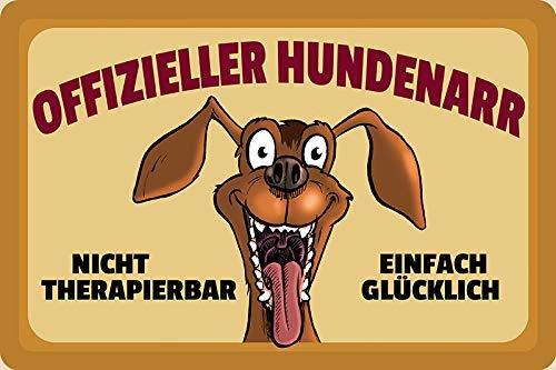 Officiële hondenmand Gewoon Gelukkig hond dog cartoon metalen bord bord gebogen metalen plaat Metal Tin Sign 20 x 30 cm