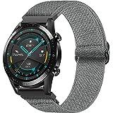 Hatolove Correa para Huawei Watch GT2/GT2 Classic/GT2 Pro 46mm/Huawei Watch GT 2e/GT Sport Active 46mm/Galaxy Watch 3 45mm/Galaxy Watch 46mm, 22mm Ajustable EláStico Nailon Deportiva Repuesto Correa
