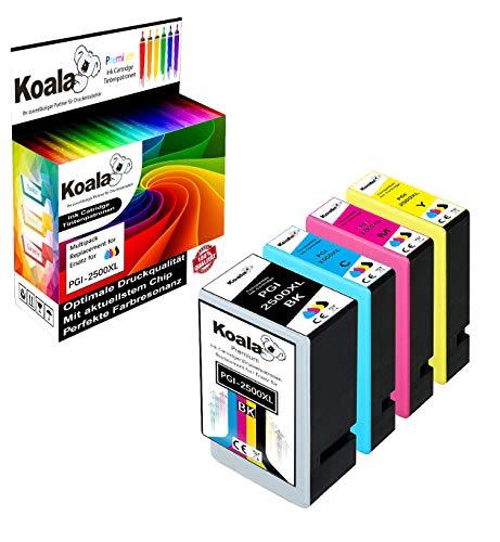 Koala 4 Druckerpatronen kompatibel für Canon PGI-2500XL PGI2500XL 2500XL für Maxify MB5050 MB5150 MB5155 MB5350 MB5450 MB5455 MAXIFY iB4050 iB4150 1*BK 1*C 1*M 1*Y