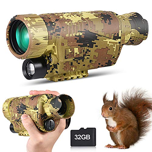 Infrared Night Vision Monocular Goggles Scope, 8X40 HD Digital Night Vision...