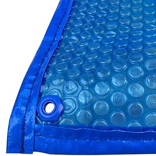 ZCJB Cobertor Piscina Cubierta Piscina Blue Solar con El Borde de Perforación,...